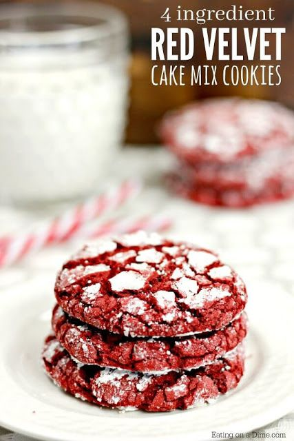EASY RED VELVET COOKIES RECIPE #cookies #makeithungry #recipes