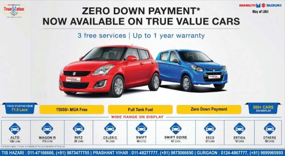 252b41b3fbc06 Zero Down Payment  Now Available On True Value Cars - http   www
