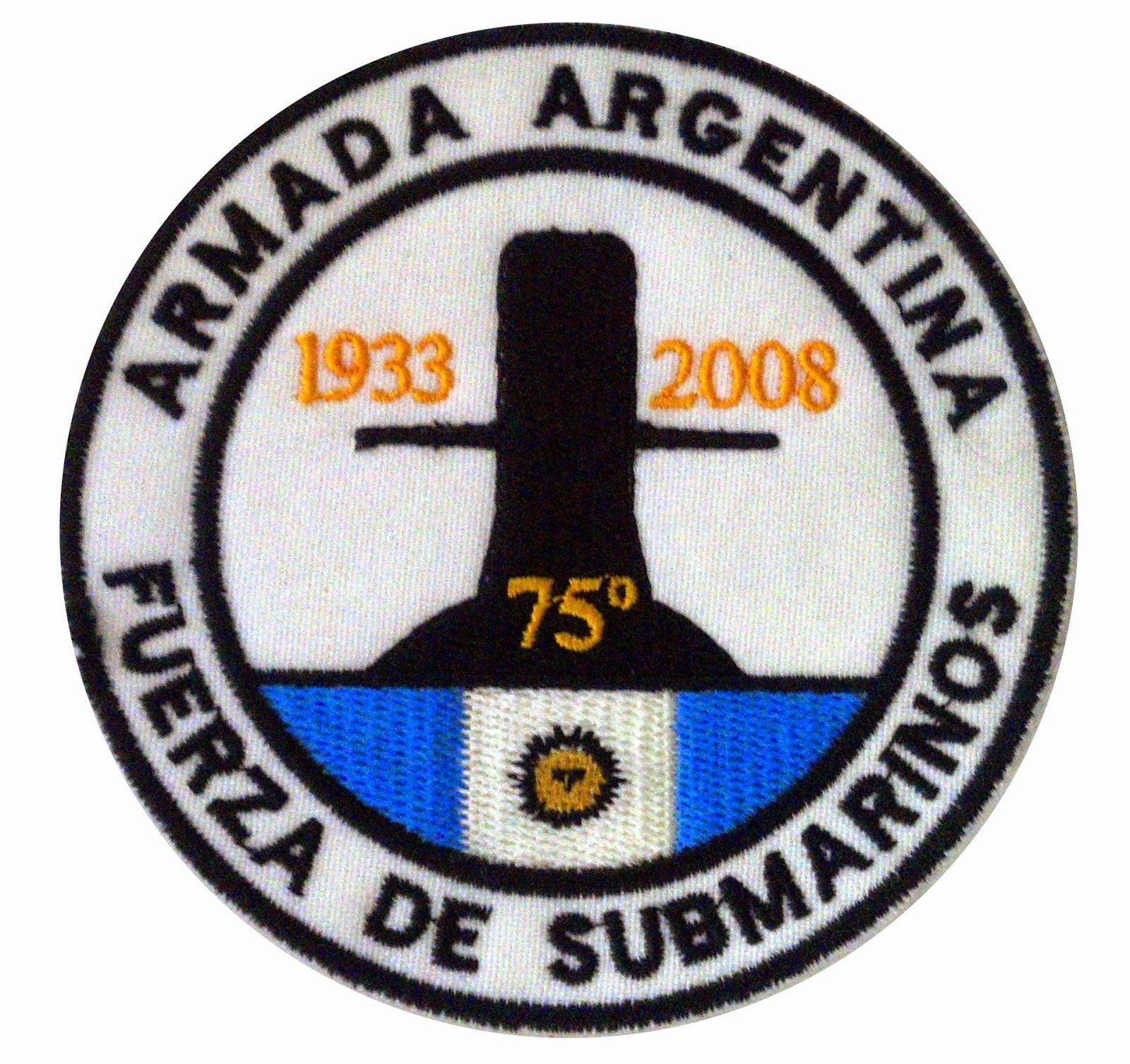 Parches de las Fuerzas Armadas Argentinas  Fuerza de Submarinos ... 5e4cd35f241