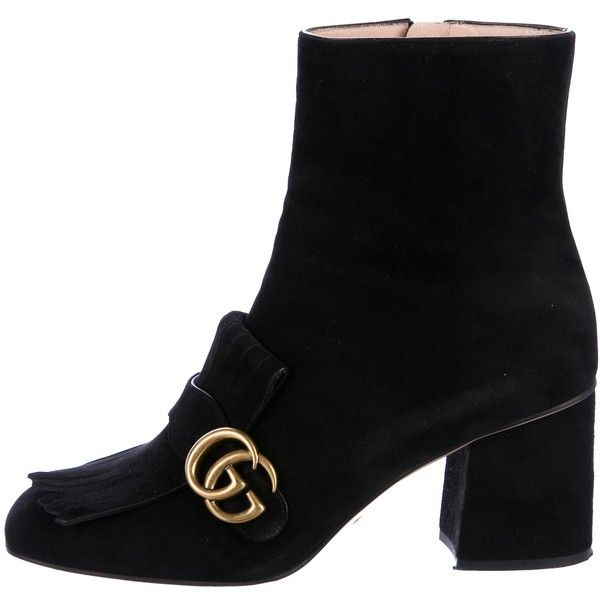 Gucci Suede GG Marmont Boots lKip43FLrY