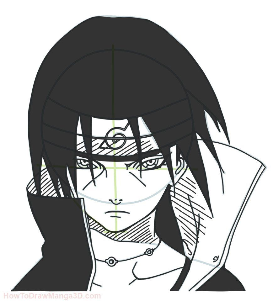 How To Draw Itachi From Naruto With Images Naruto Painting