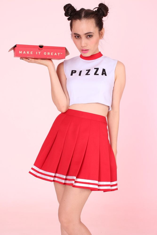 cbca71a75 MADE TO ORDER - Team Pizza Cheer Set (Top and Skirt ...