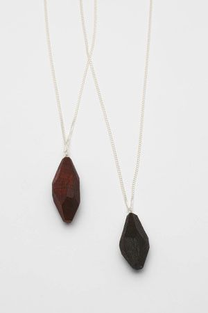 necklace | wooden crystals by a garment for a person who