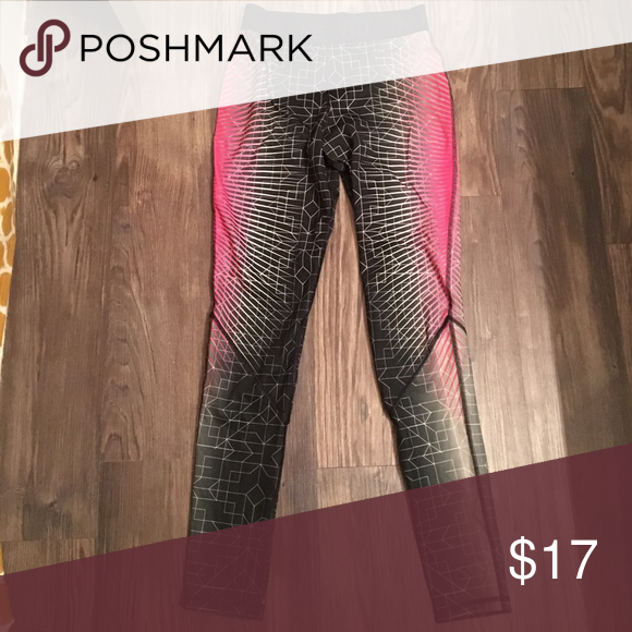 Nike pro pant Tech/explosion pattern with hot pink accent Nike Pants Leggings
