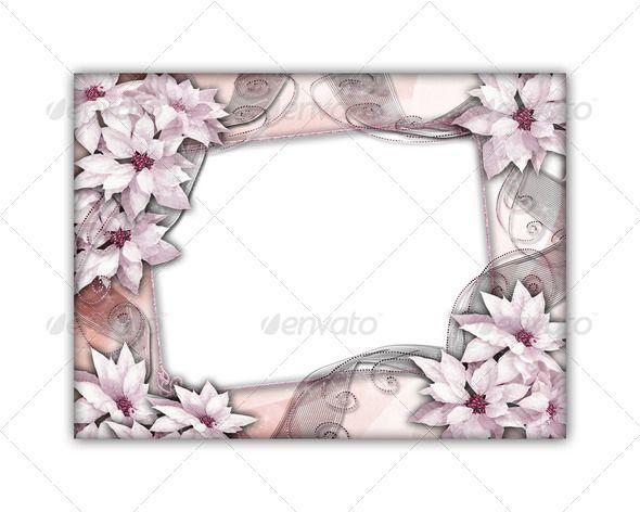 Romantic photo frame isolated on white background 3