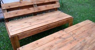 Recycelte Paletten Garten Sitzmöbel #recyceltepaletten Recycelte Paletten Garte #recyceltepaletten