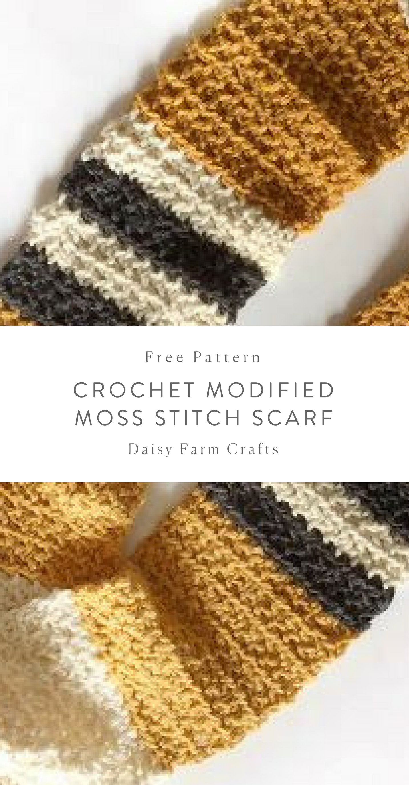 Free Pattern - Crochet Modified Moss Stitch Scarf | Crochet ...