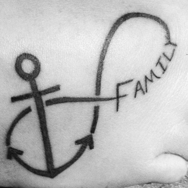 Forevever Ideas Family Tattoo Illusion: Tattoo- My Family Is My Anchor For Forever (infinity