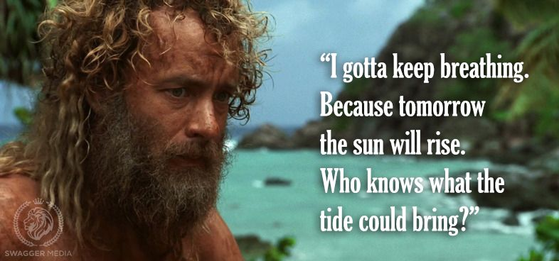 Famous Tom Hanks Movie Quotes: Cast Away, 2000. #movie #quotes …
