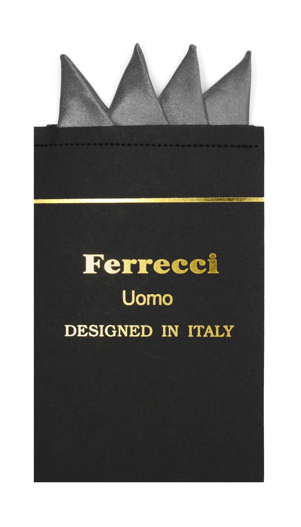 Pre-Folded Microfiber Charcoal Handkerchief Pocket Square