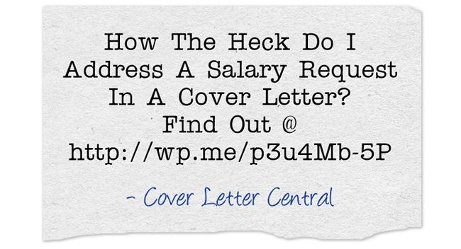 How To Address A Salary Request In A Cover Letter  WhoS And What