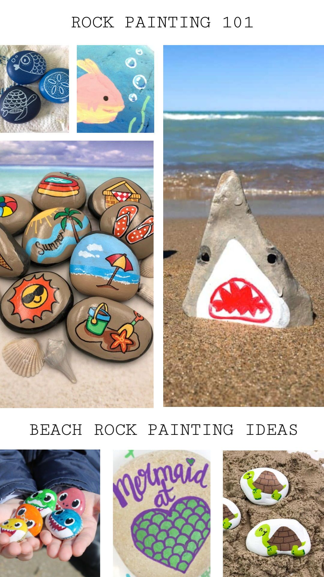 10 Easy Beach Rock Painting Ideas To Get Geared Up For Summer Rock Painting 101 In 2020 Painted Rocks Turtle Painted Rocks Painted Rocks Diy