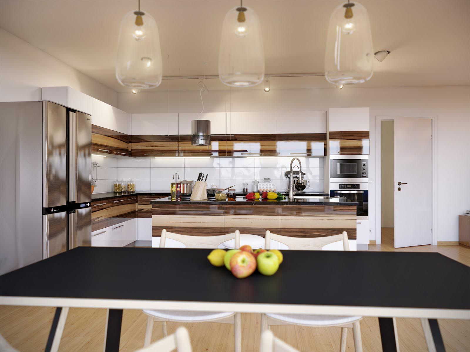 brown and white kitchen designs. Brown and White Kitchen Cabinets Design Ideas