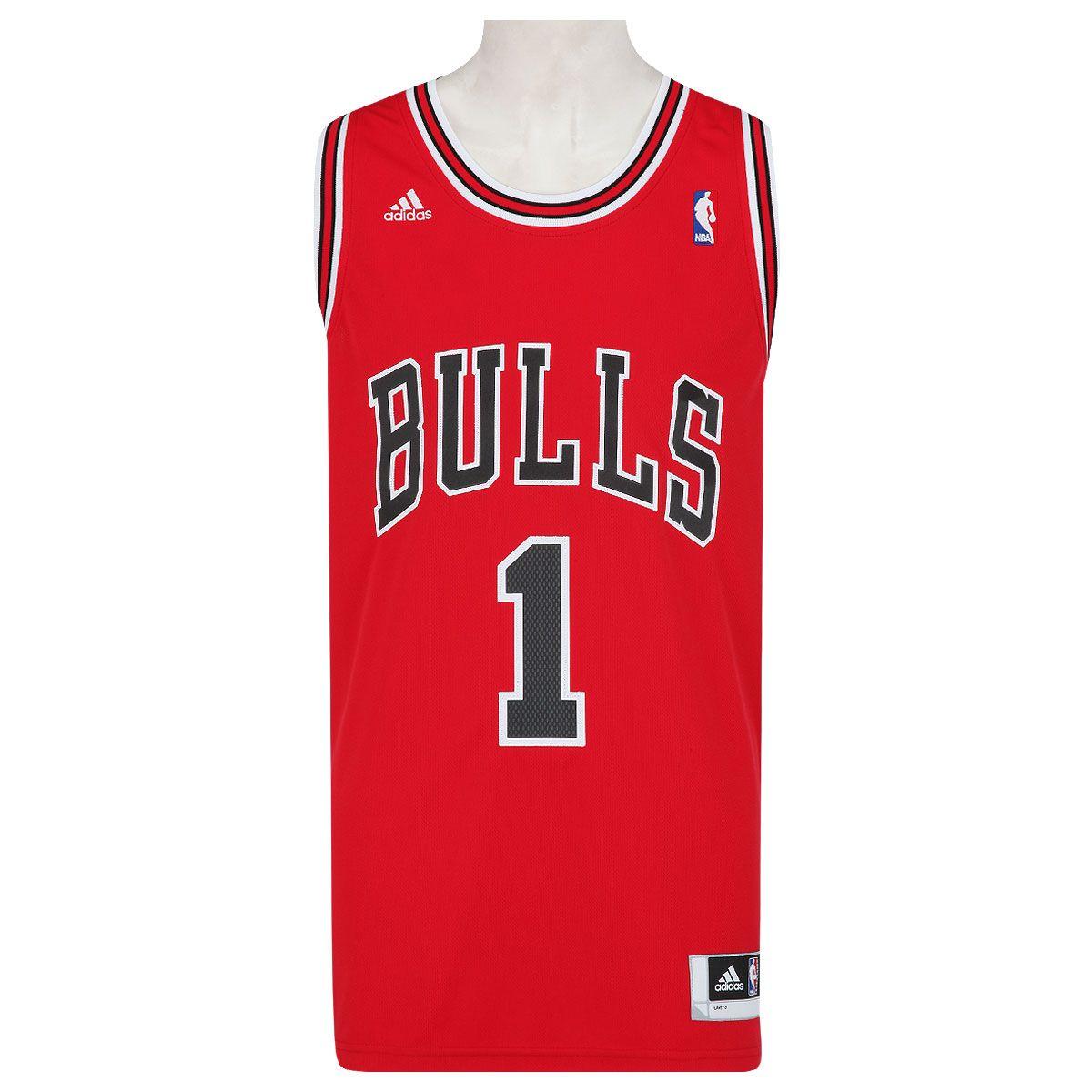 Camiseta Regata Adidas Bulls Home Rose - Masculina  b8ab14e86c7