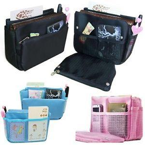 New Women Insert Handbag Organiser Multi-function Purse Organizer Tidy Bag Pouch