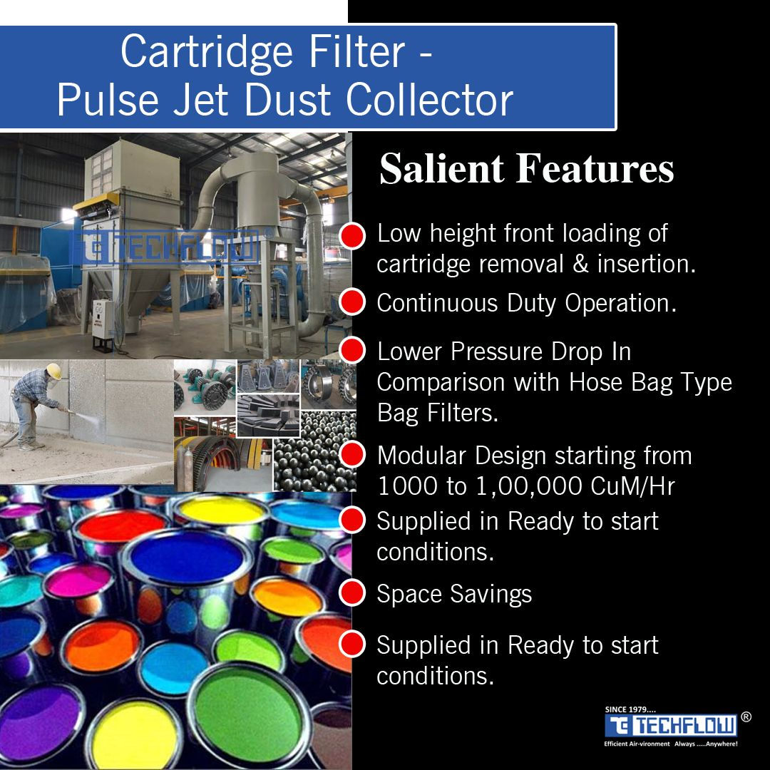 Cartridge Filter Pulse Jet Dust Collector http