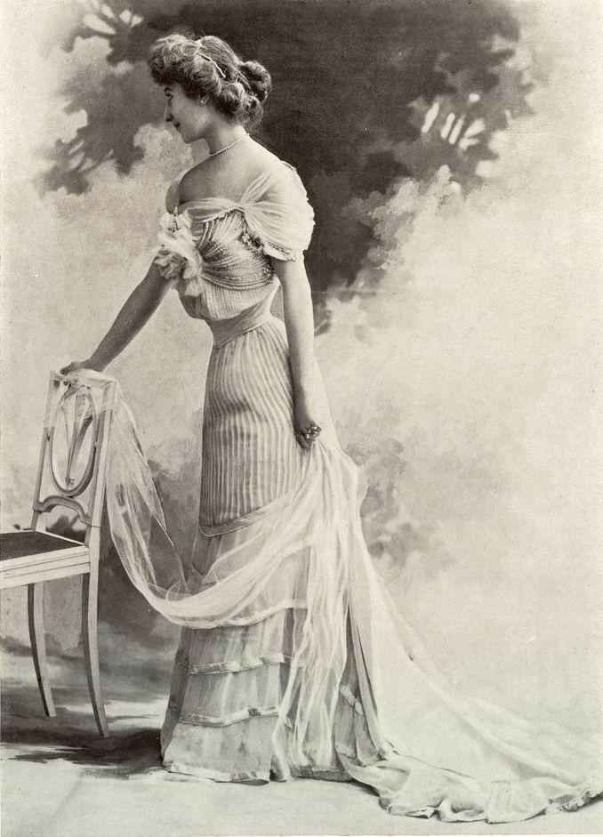 1901 November, Les Modes Paris - Ball gown by Doueillet | 1900s ...