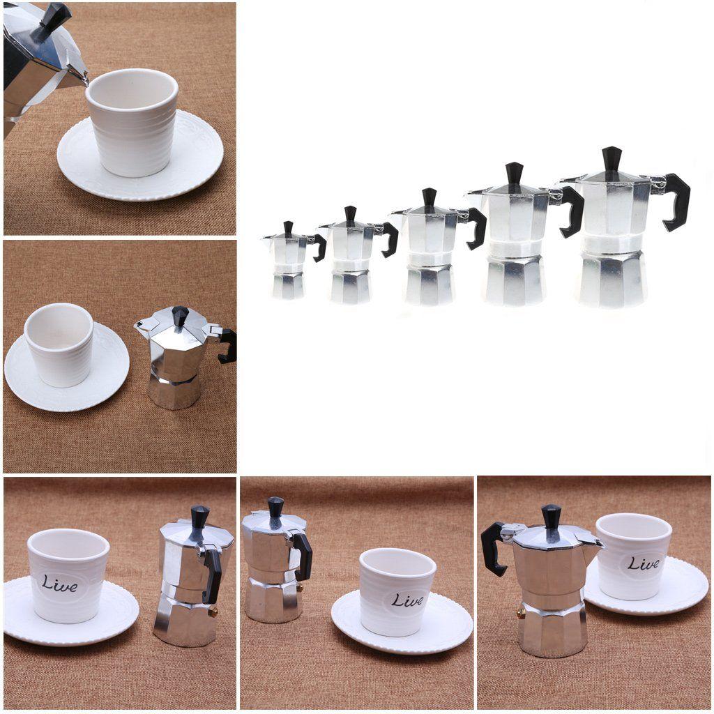 Poity Latte Mocha Coffee Pot Stove Top Espresso Maker Tool