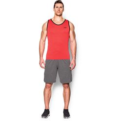View the Under Armour Men's UA Tech Tank Rocket Red online today from Fitness Box Ltd