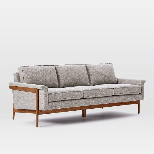 Leon Wood Frame Sofa In 2020 Sofa Frame Sofa Wood Frame Wood Frame Couch