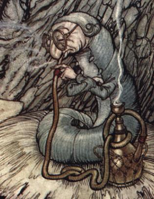 Rackham Caterpillar Alice in Wonderland Counted Cross Stitch Chart  Pattern