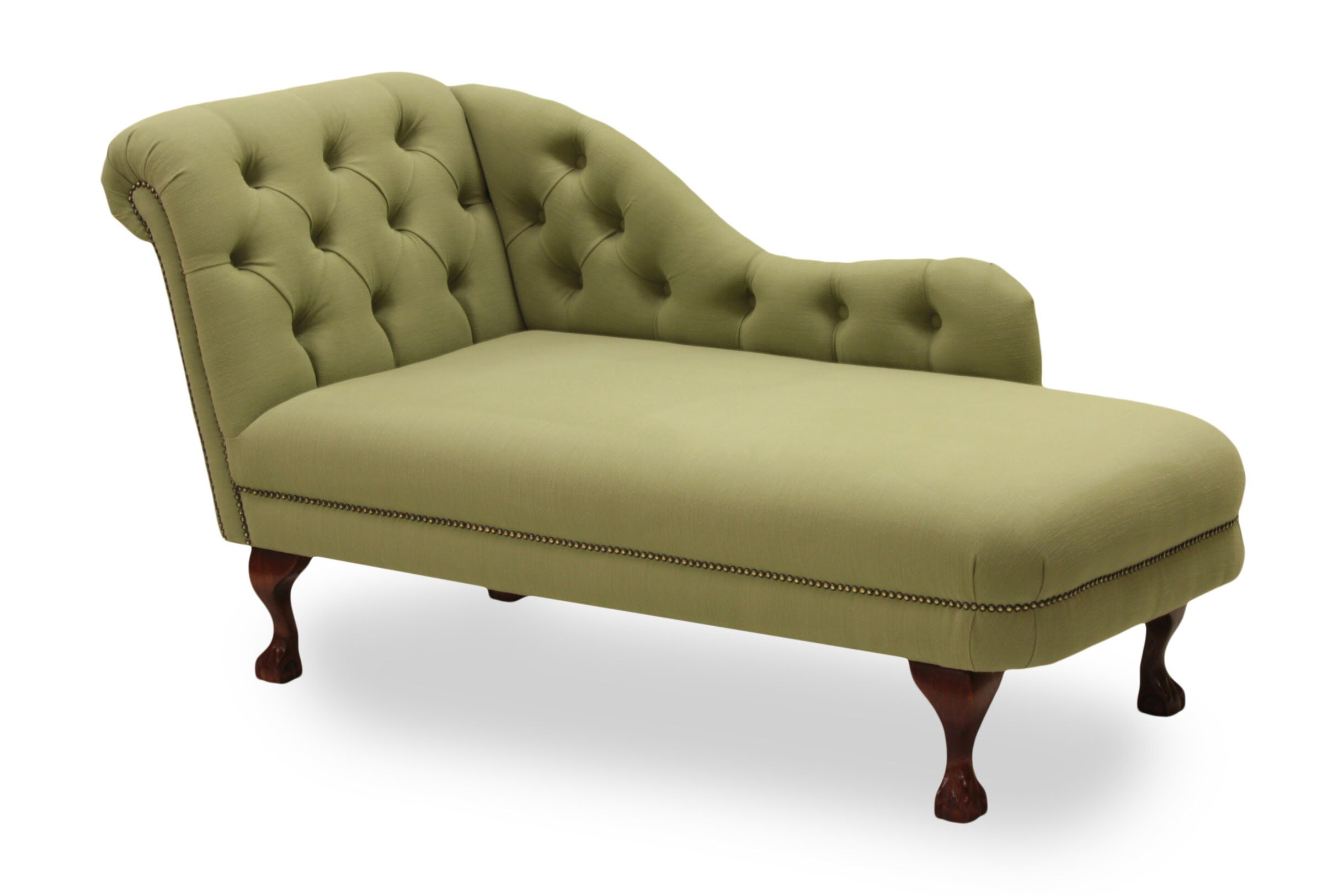 - Our Large #chaise In A Green Brushed Cotton Fabric With Deep