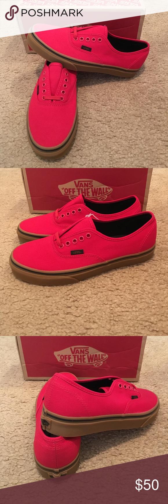0f73822d50 Authentic Gum Vans New in box. Racing red black Vans Shoes Sneakers ...