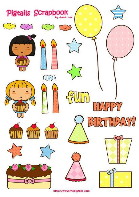 Free Printable Birthday Stickers Google Search Scrapbook Printables Free Happy Planner Stickers Birthday Stickers