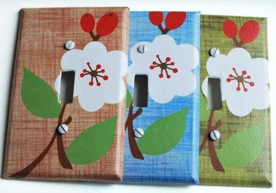 Craft some basic switchplates with Mod Podge
