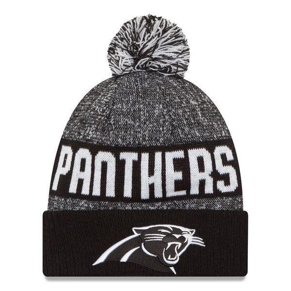 Carolina Panthers New Era 2016 Black/White Sport Knit Hat