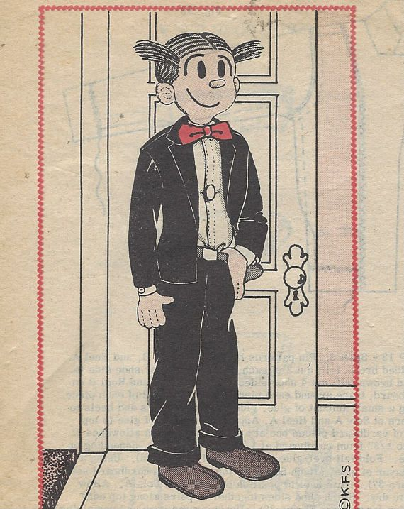 1960s Dagwood Bumstead Doll Pattern Vintage Toy Pattern 736 Mail ...