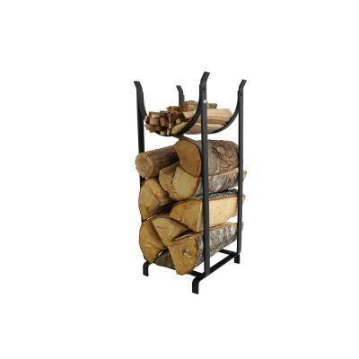 Enclume Handcrafted Hearthside Wood Rack Black Wood Rack Wood