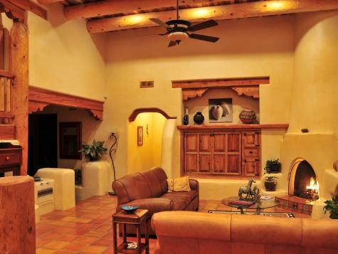 This Southwestern Living Room Is Decorated In Shades Of Beige And Glamorous Southwestern Living Room Decorating Inspiration