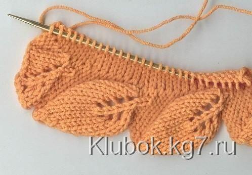 Кайма листьями. МК от Ольги. | puntadas de crochet..... | Pinterest ...