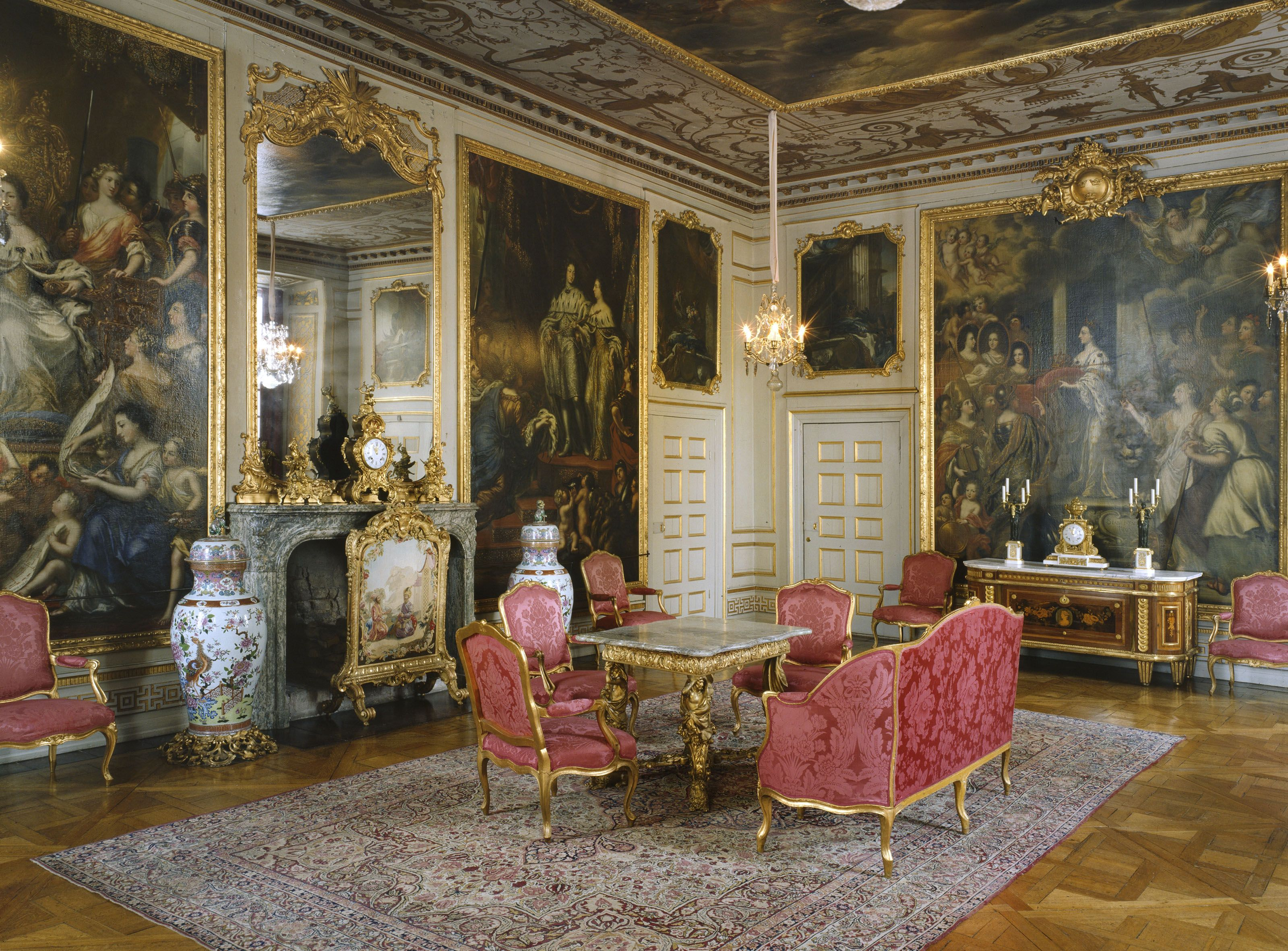 Finally swedish grandeur tiered of only swedish painted furniture and all from around 1870 drottningholm palace in sweden