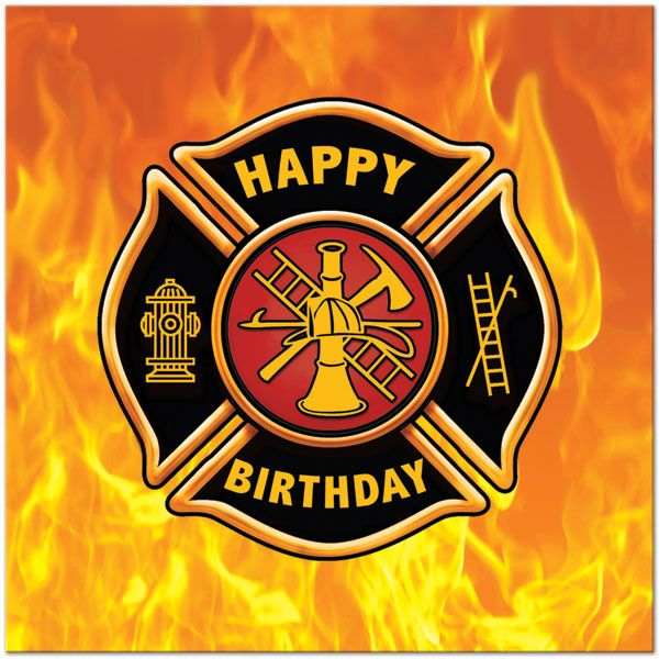 Fire Department Birthday Cake