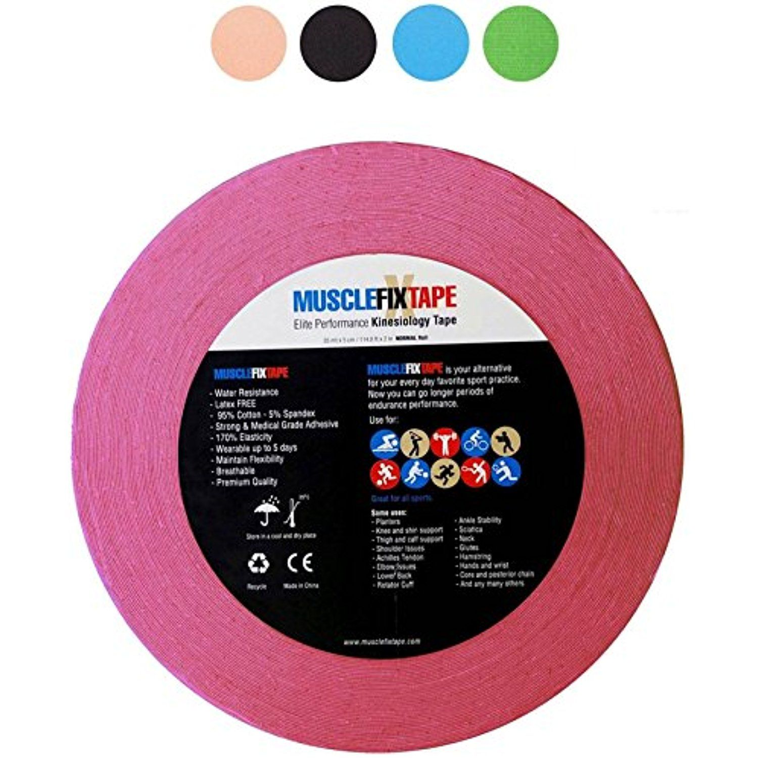 Kinesiology Tape by MUSCLE FIX PRO Therapeutic Sports
