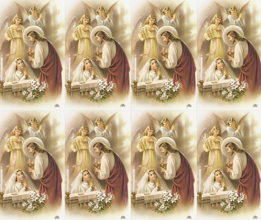 First communion print your own prayer cards holy cards