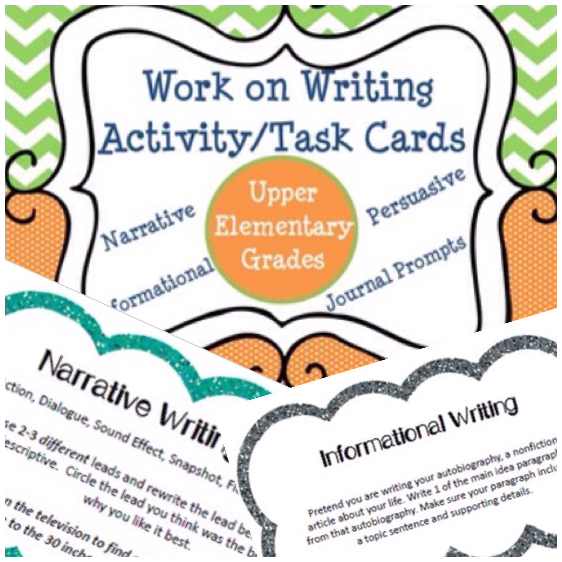 Work on Writing - Task Cards | Educational Tools For Success