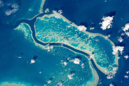Great Barrier Reef Near Whitsunday Islands via NASA http://ift.tt/1P1a2Iu
