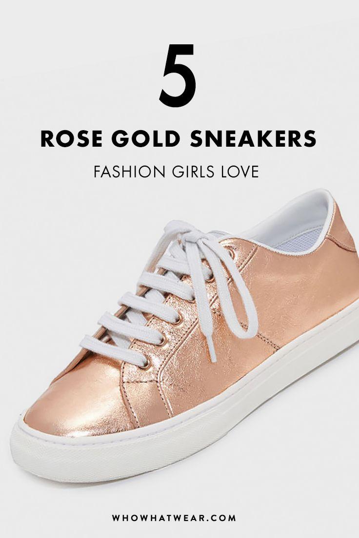 Rose gold sneakers, Sneakers