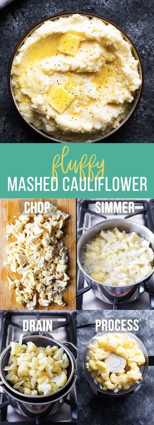 Fluffy Parmesan Mashed Cauliflower | Sweet Peas & Saffron