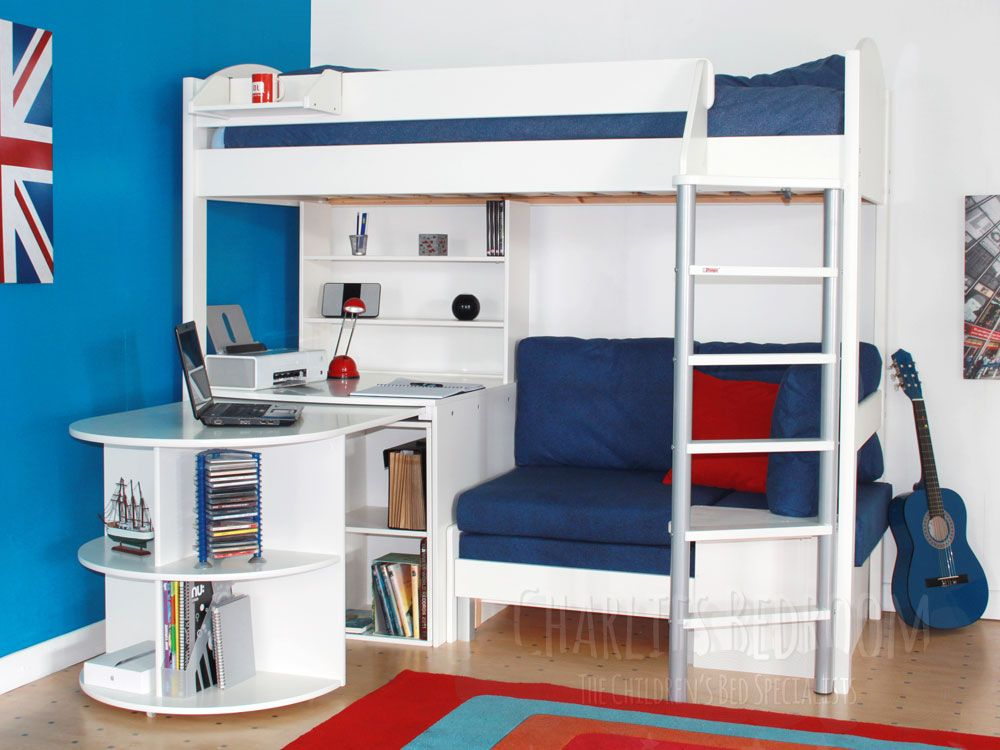 High Sleeper With Wardrobe And Futon