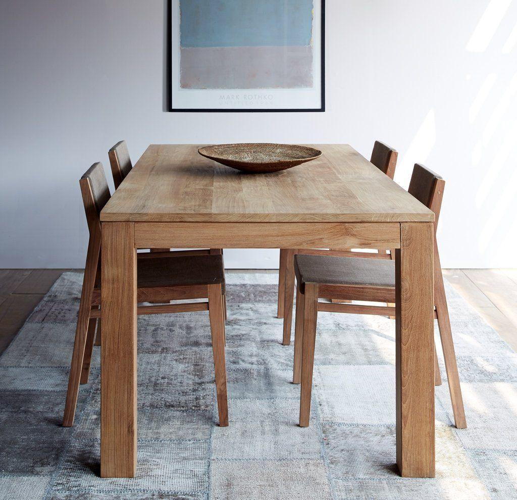 Kubus Teak Dining Table 10 Seater Teak Dining Table Dining Table Teak Furniture