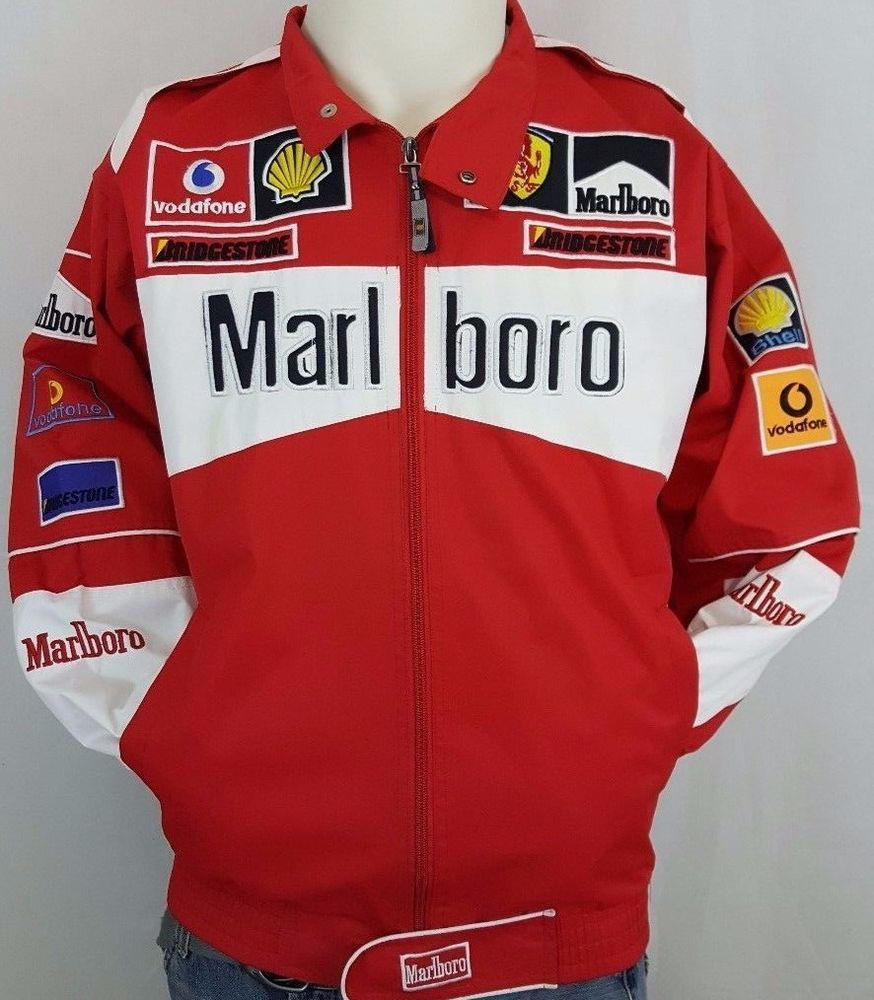 Michael Schumacher F1 Formula 1 Racing Team Jacket Ferrari Marlboro Indy Size S Ferrari F1 Formula1 Racing Team Jackets Marlboro Jacket Michael Schumacher