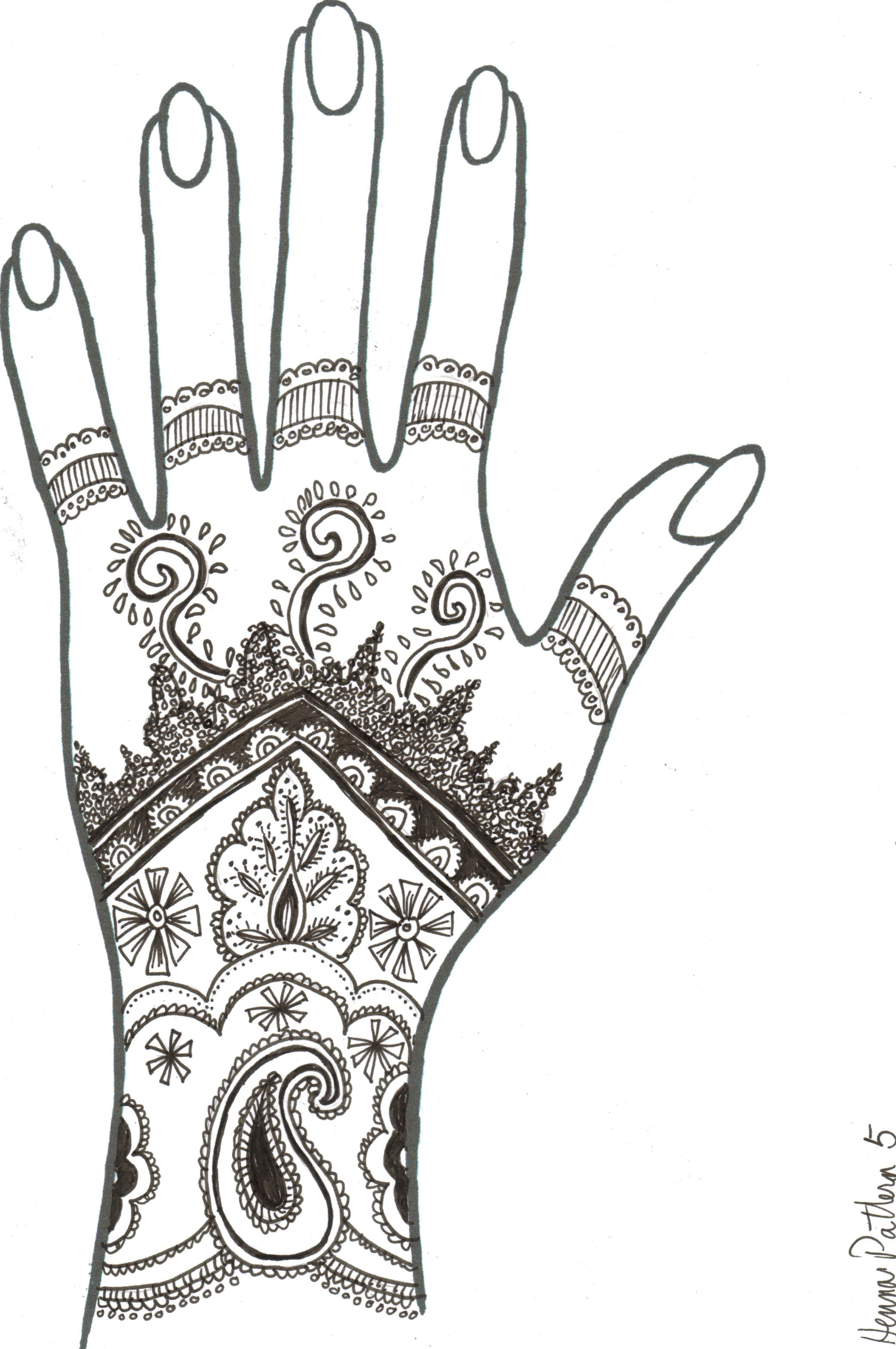 Henna Hands Drawing Wwwgalleryhipcom The Hippest Pics