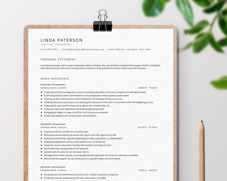Resume Template Professional Cv Template Curriculum Vitae Clean Resume Minimalist Cv A Minimalist Resume Template Resume Template Cv Template Professional