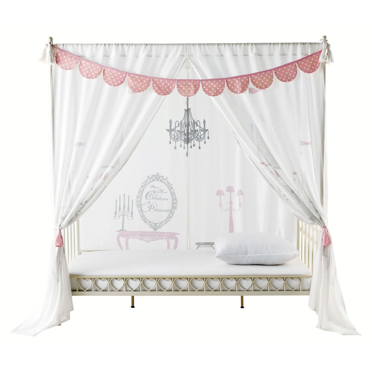 rideau enfant lit baldaquin princesse chambre fille. Black Bedroom Furniture Sets. Home Design Ideas