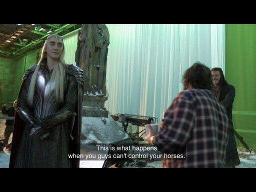 New Lee Pace as Thranduil pics  // BOFA Behind the scenes