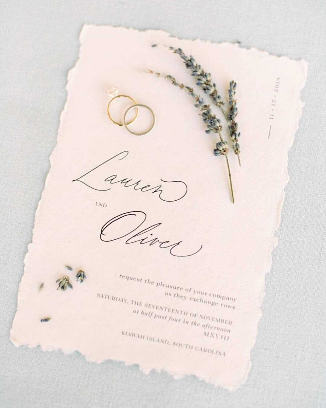 Minimalist Layout Invitation Card With Type And Calligraphy
